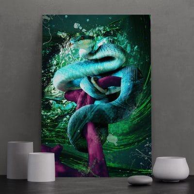 tableau serpent coloré