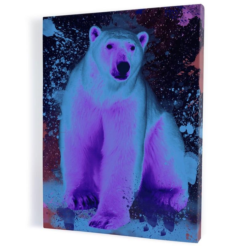 tableau-toile-aluminium-ours-polaire-coloré-popart-streetart