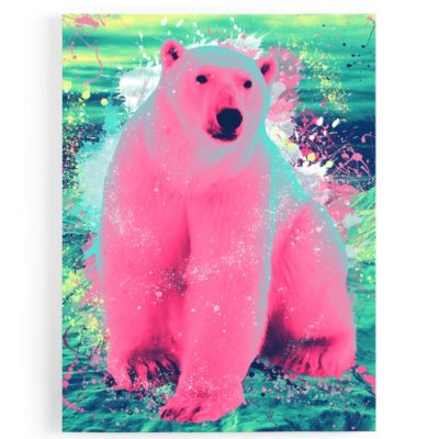 tableau-toile-ours-polaire-coloré-popart-streetart
