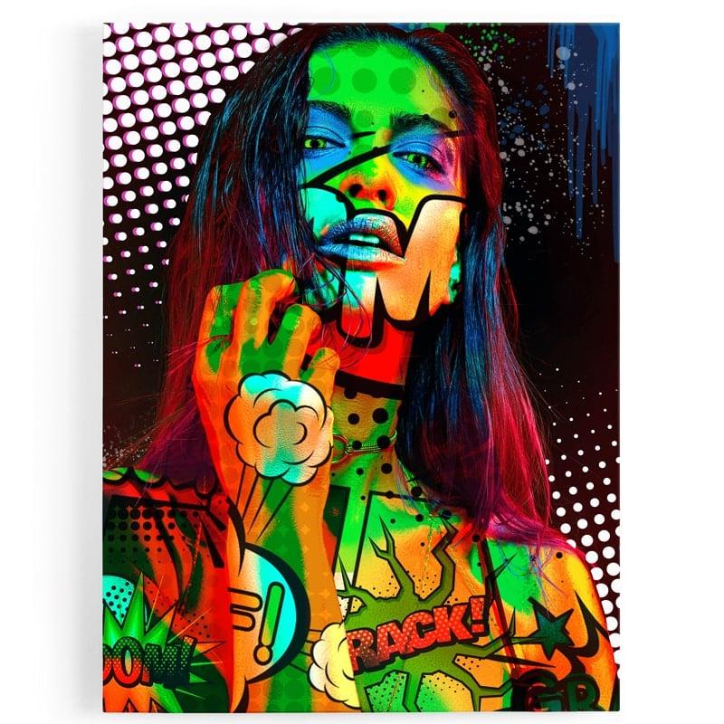 tableau-toile-popart-coloré-femme-d