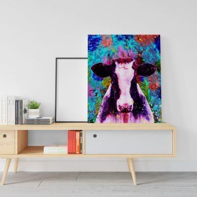 tableau vache pop art