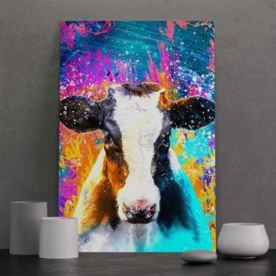 tableau vache coloré