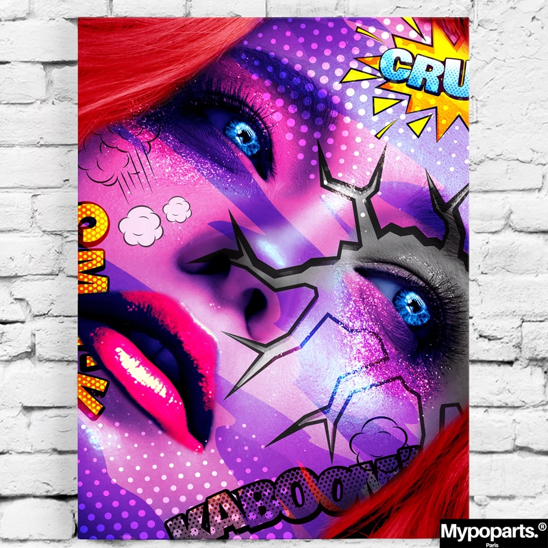 tableau visage coloré