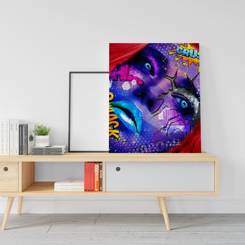 tableau femme coloré design pop art