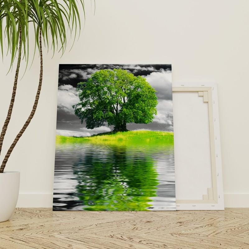 tableau-arbre-de-vie-pop-art-coloré-decoration-nature-feuille-arbre-