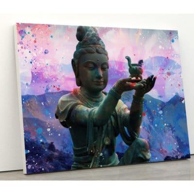 tableau bouddha coloré