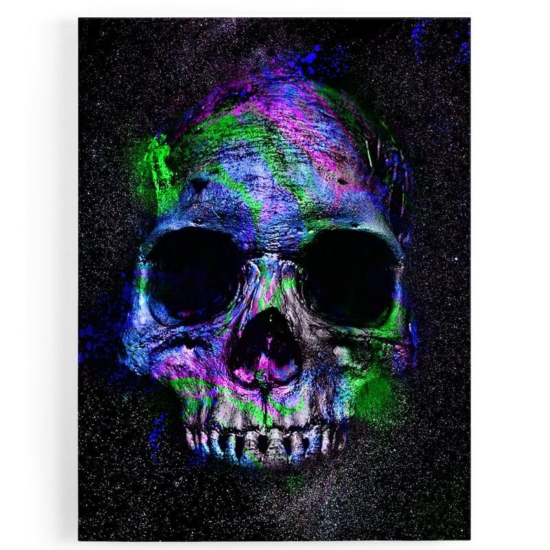 tableau-cadre-toile-tete-de-mort-crane-biker-decoration-murale-pop-art-coloré-1
