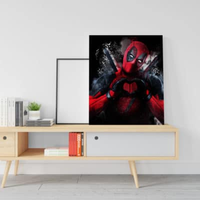 decoration deadpool geek super heros toile cadre poster deadpool