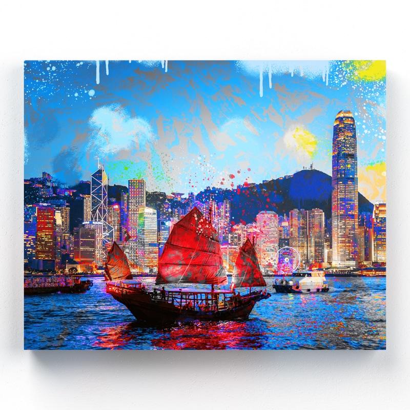 tableau honkong tableau aluminium ou tableau toile pop art