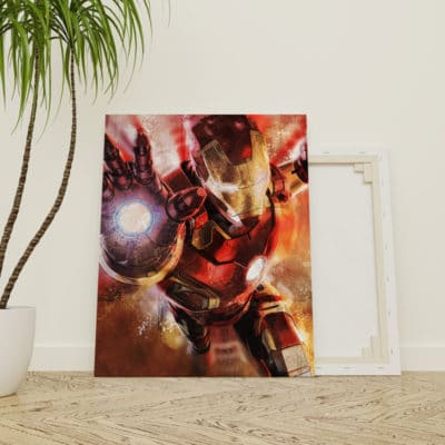 tableau iron man super heros