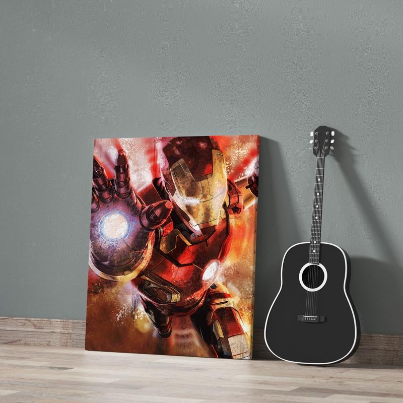 tableau iron man super heros deco geek cadeau ironman cadeau geek