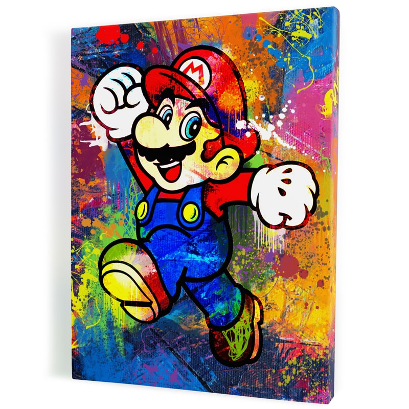tableau-mario-geek-retro-gaming-icon-luigi-super-nintendo