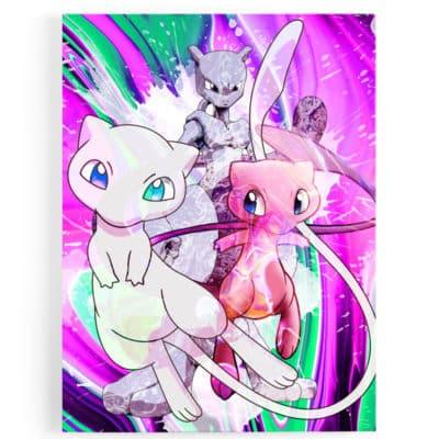 tableau-mewtwo-pokemon-tableau-geek-toile-poster-pokemon