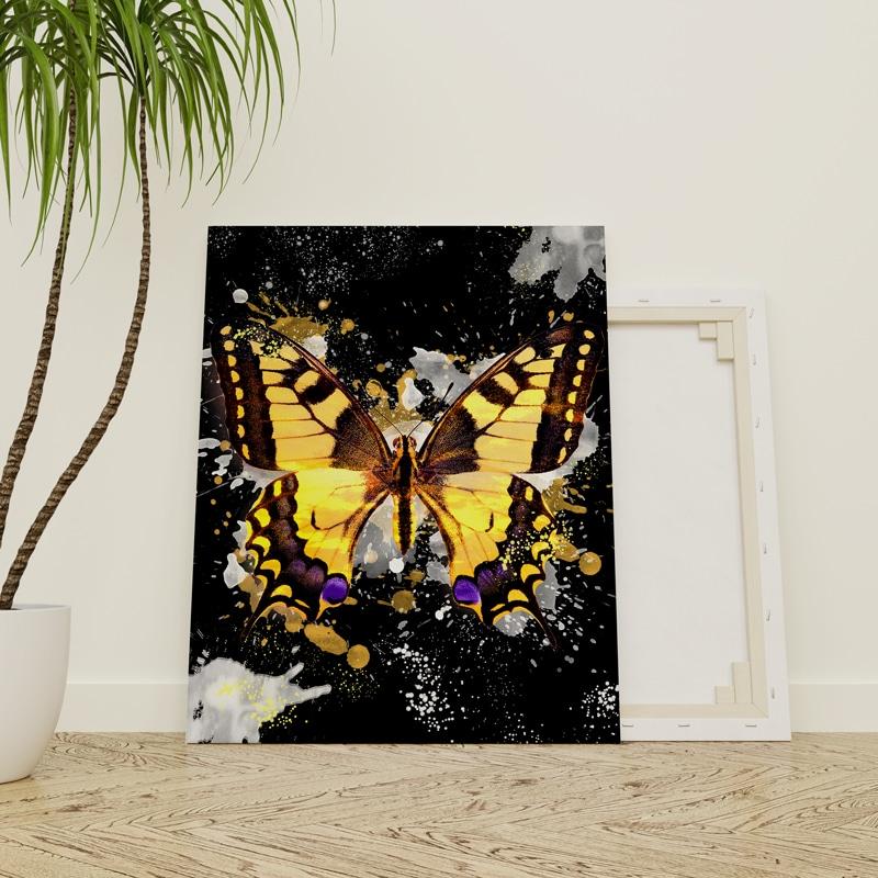 tableau papillon pop art