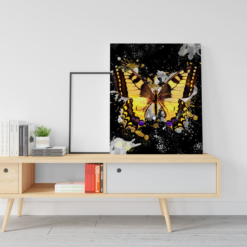 tableau papillon coloré