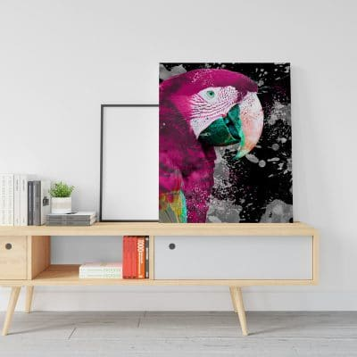 tableau perroquet cadre toile poster decoration murale animaux oiseau perroquet