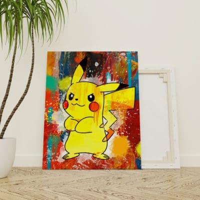 tableau pikachu pop art