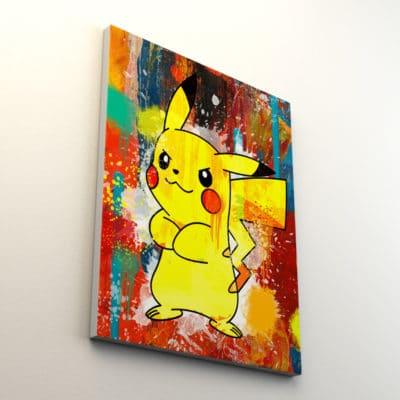cadre pikachu pokemon pop art street art deco geek