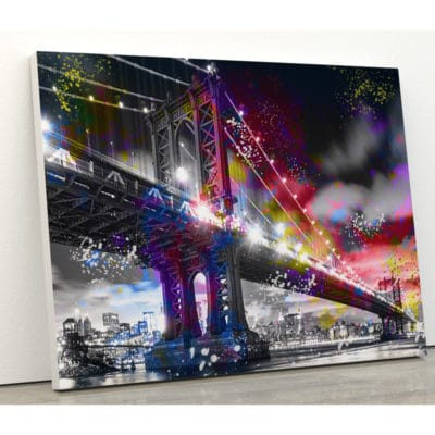 tableau pont manhattan NY new york pont toile