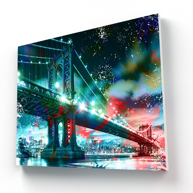 decoration murale toile cadre poster new york pont