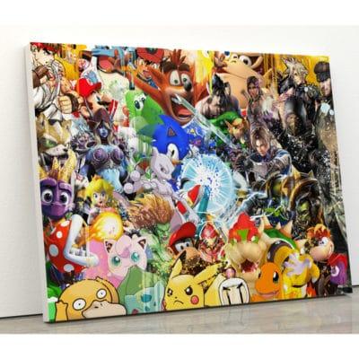 tableau-retro-gaming-jeux-video-super-heros-geek-mario-yoshi-tekken-sacha-mewtwo-sonic-resident-evil-zelda-tom-raider-tortank-world-of-warcraft-retro-gaming-deco-geek-10