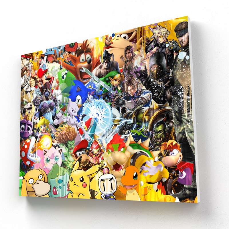 tableau-retro-gaming-jeux-video-super-heros-geek-mario-yoshi-tekken-sacha-mewtwo-sonic-resident-evil-zelda-tom-raider-tortank-world-of-warcraft-retro-gaming-deco-geek-09