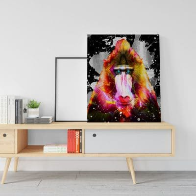 poster singe decoration murale pop art deco singe macaque8