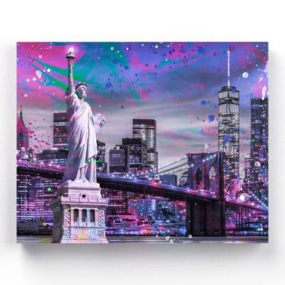 tableau aluminium statue de la liberté