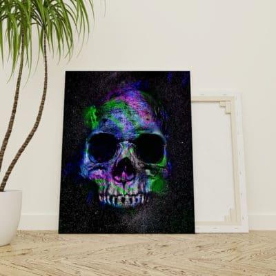 tableau tete de mort skull tableau biker decoration biker murale