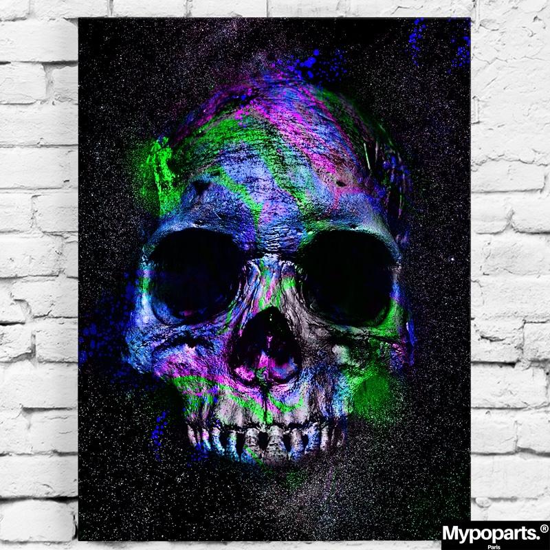 tableau tete de mort skull decoration murale poster toile cadre crane skull