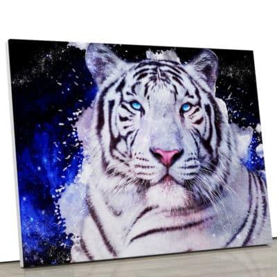 tableau tigre coloré pop art animaux