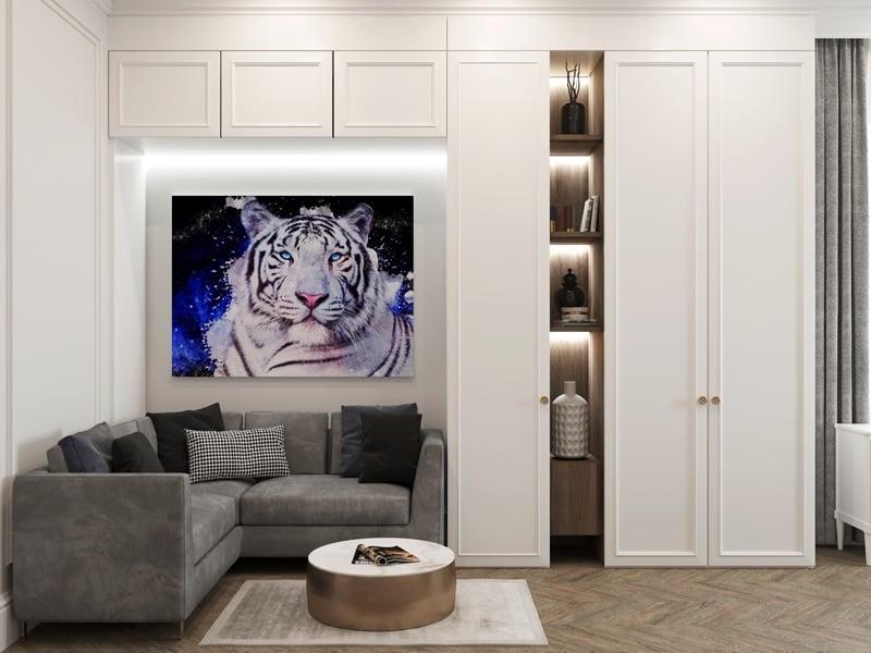 tableau togre decoration animaux pop art