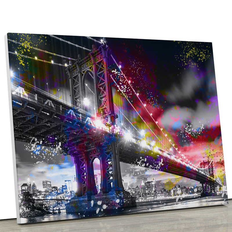 tableau-toile-cadre-new-york-manhattan-pont-decoration-murale-usa