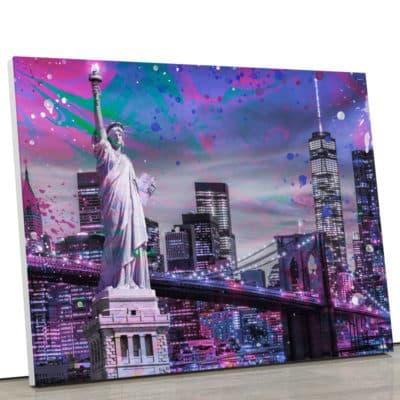 tableau-toile-poster-newyork-ny-statue-de-la-liberté-decoration-murale-tour-world-water-center-2