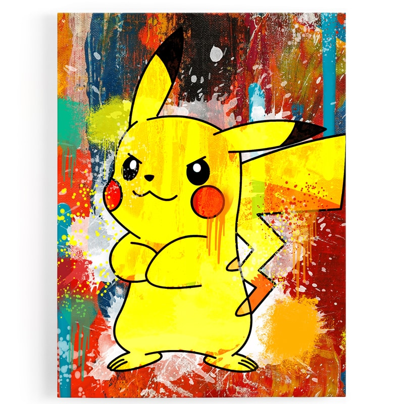 tableau-toile-poster-pikachu-pokemon-decoration-murale-tableau-geek-pokemon-deco