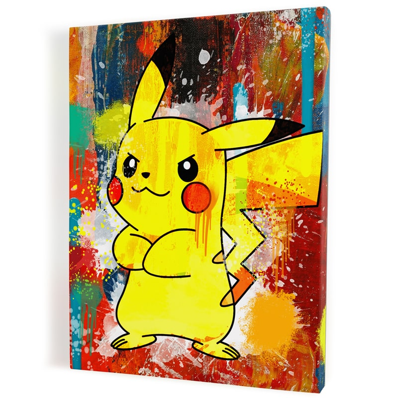 tableau-toile-poster-pikachu-pokemon-decoration-murale-tableau-geek