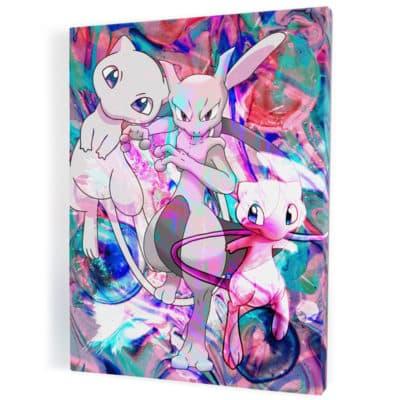 tableau-toile-poster-pokemon-mewtwo-tableau-geek
