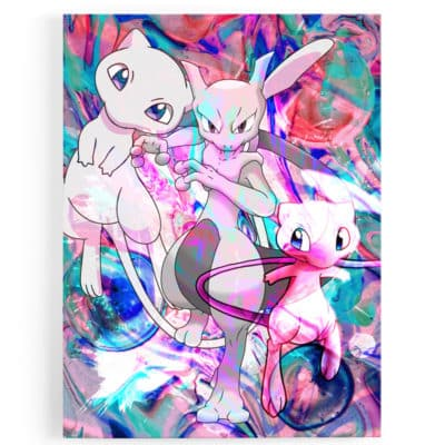 tableau-toile-poster-pokemon-mewtwo-tableau-geek-pokemon