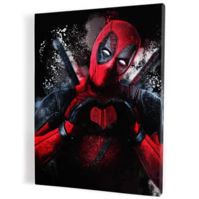 tableau deadpool super heros pop art street
