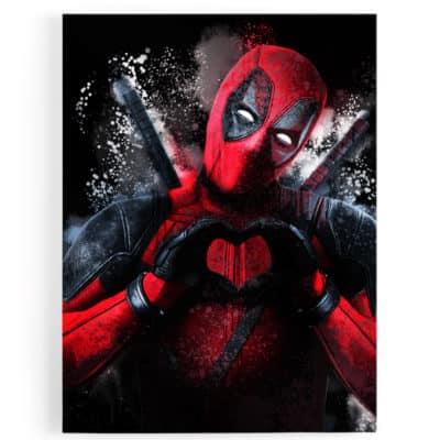 tableau cadre toile deadpool super heros popart