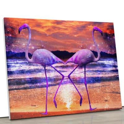 tableau-flamant-rose-animaux-tableau-oiseau-coloré-pop-art