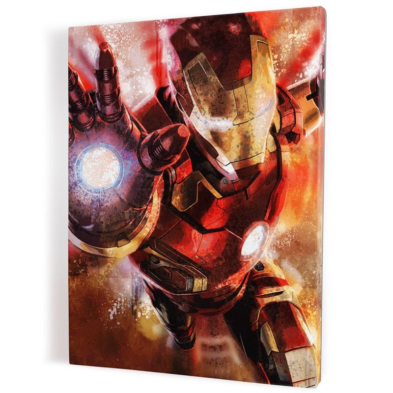 tableau iron man decoration murale pop art toile cadre poster iron man