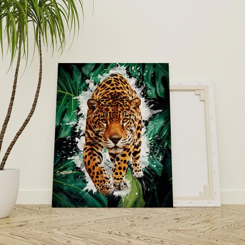 tableau panthere tigre felin