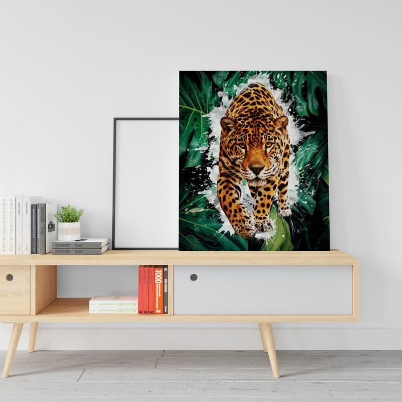 tableau panthere pop art