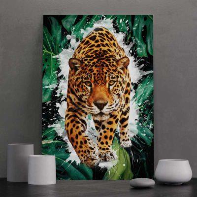 tableau tigre pop art coloré