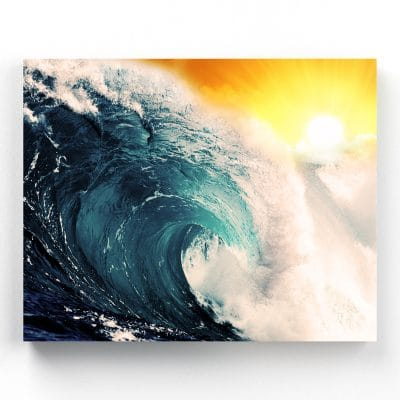 tableau ocean vague mer plage