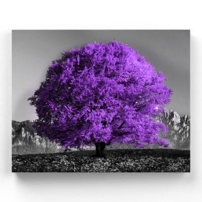tableau arbre violet