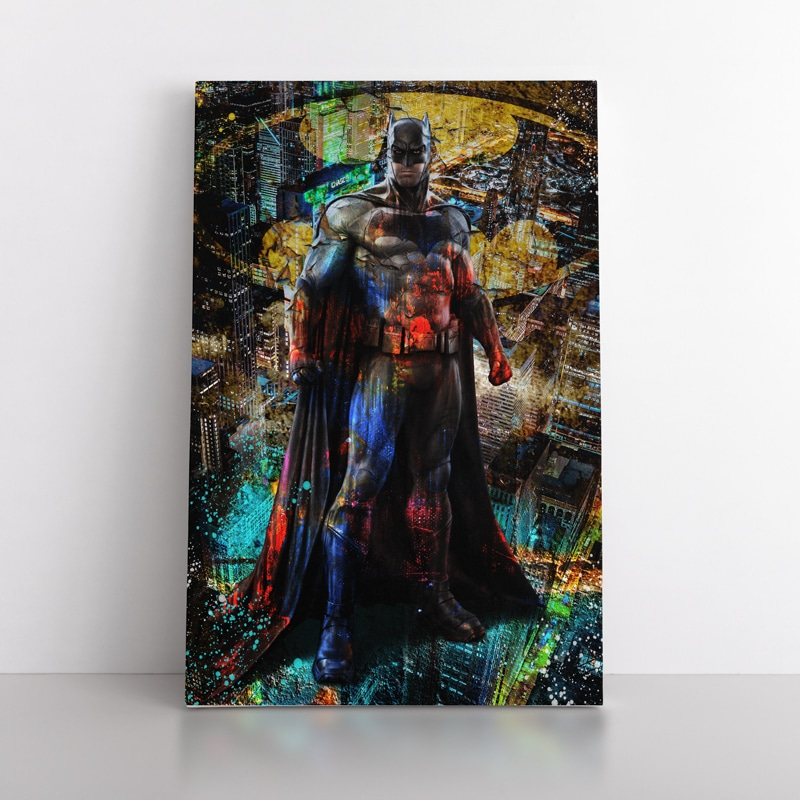 tableau batman geek pop art street art