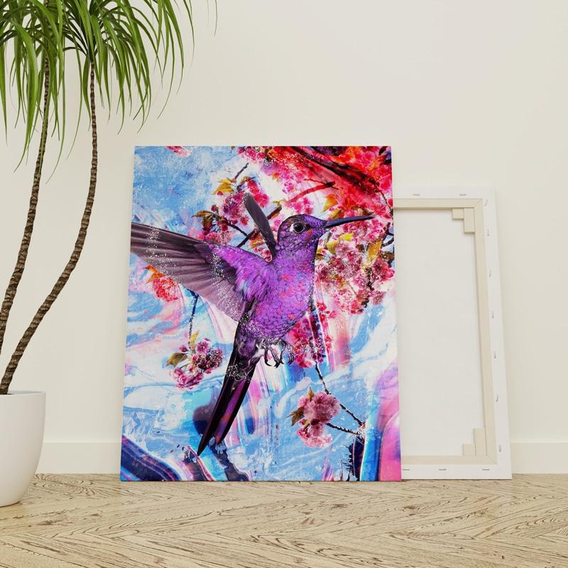 tableau oiseau colibri