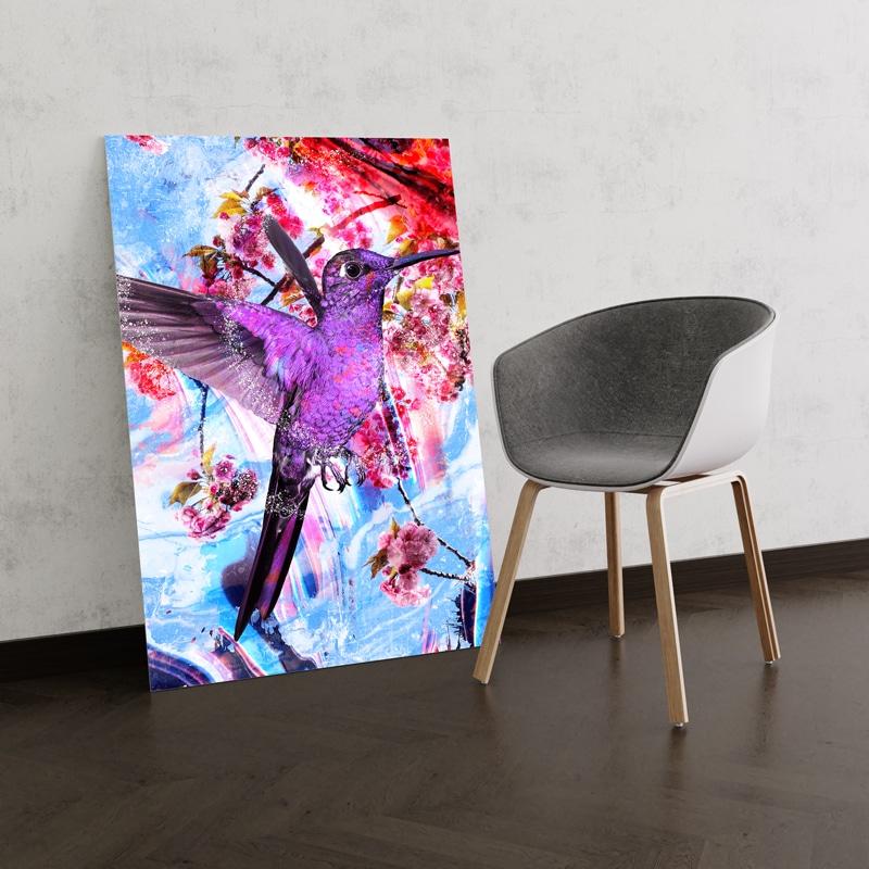 toile colibri animaux coloré oiseau